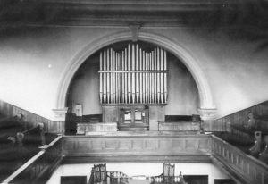 The organ inside Bowesfield Lane Methodist Chapel, Stockton-on-Tees